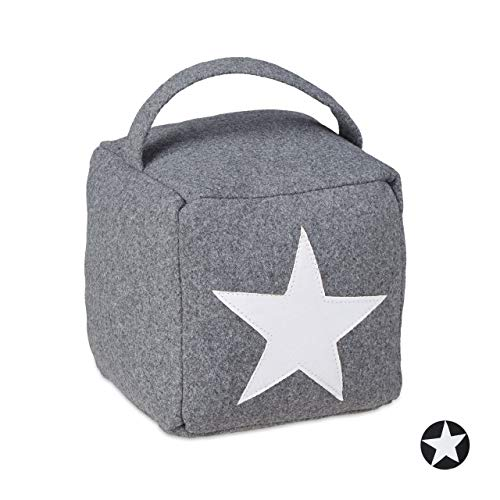 Relaxdays Star Door Stop, Grey, 20 x 15 x 15 cm from Relaxdays