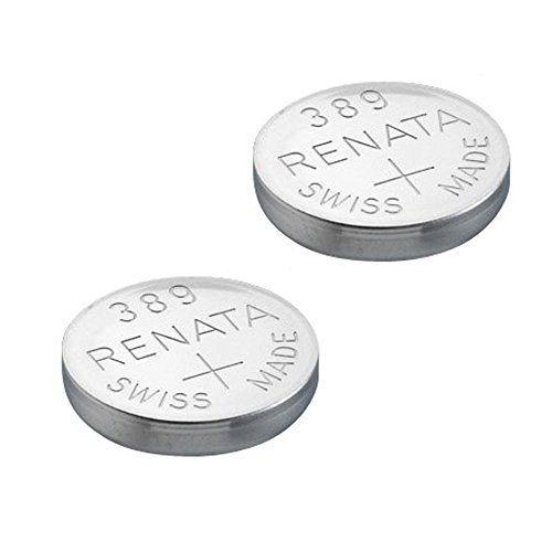 2x Renata Watch Battery - Swiss Made - All Sizes - Silver Oxide Renata Batteries - 315,317,319,321,329,335,337,341,344,346,350,357,361,362,364,366,370,371,373,377,379,381,384,389,390,391,392,393,394,395,396,397 - CR 2450N,1225,1632,1616,1220,1216,2032,1620,2320,2032,2025,2430,2325,2016 (389 (SR1130W)) from Renata