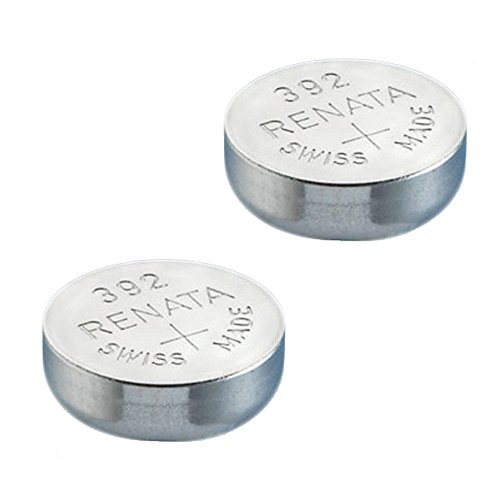 2x Renata Watch Battery - Swiss Made - All Sizes - Silver Oxide Renata Batteries - 315,317,319,321,329,335,337,341,344,346,350,357,361,362,364,366,370,371,373,377,379,381,384,389,390,391,392,393,394,395,396,397 - CR 2450N,1225,1632,1616,1220,1216,2032,1620,2320,2032,2025,2430,2325,2016 (392 (SR41W)) from Renata
