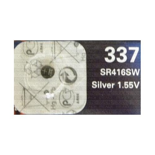 Renata 337 SR416SW SB-A5 Silver Oxide Watch Battery 1.55v Blister Packed from Renata