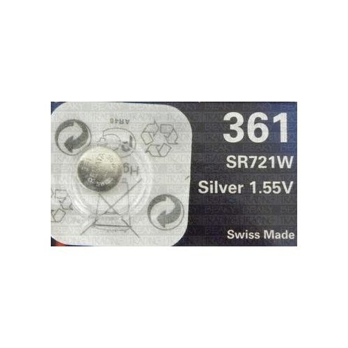 Renata 361 SR721W Silver Oxide Watch Battery 1.55v Blister Packed from Renata