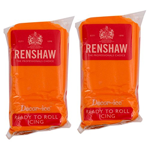 Renshaw Tiger Orange Ready to roll icing 500g (2 x 250g Packets) from Renshaw