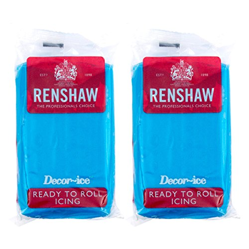 Renshaw Turquoise Blue Ready to roll icing 500g (2 x 250g Packets) from Renshaw