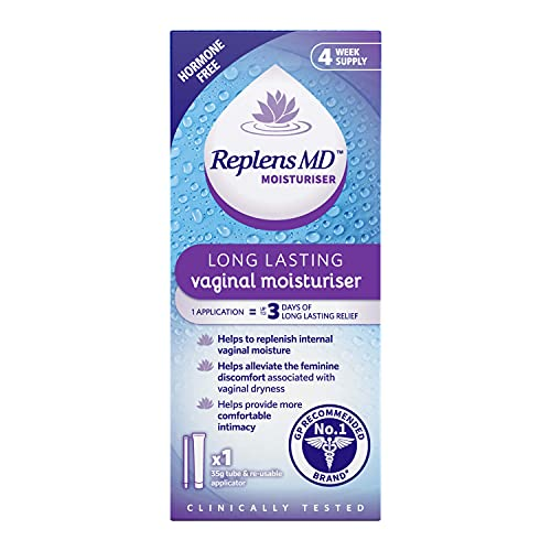 Replens - Post-Menopause Vaginal Moisturiser - Tube and Applicator 35g - 12 applications from Replens