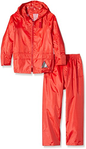Result Heavyweight Waterproof Jacket and Trouser Set,Red,X-Large (11-12 Years) from Result