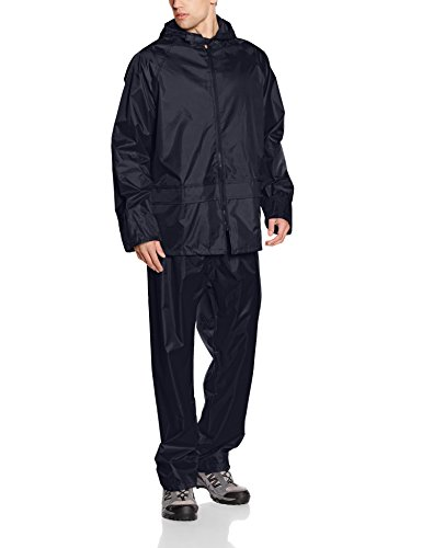 Result Men's Heavyweight Waterproof Jacket and Trouser Set Navy Large from Result