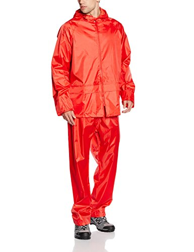 Result Men's Heavyweight Waterproof Jacket And Trouser Set Red  X-Large from Result