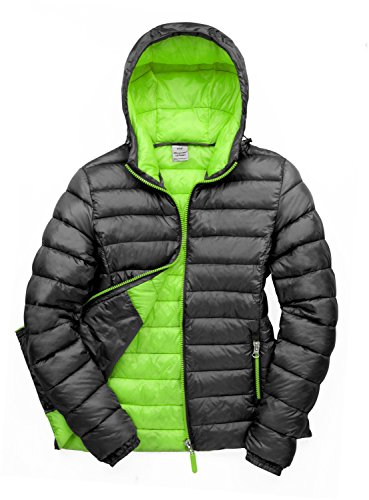 Result Women's R194F Urban Snow Bird Hooded Jacket, Black/Lime, X-Large/Size 16 from Result