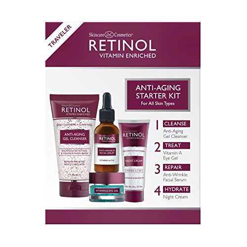 Retinol Anti-Aging Starter Kit - The Original Retinol For a Younger Look - [4] Conveniently Sized Products Perfect For Travel or First Time Try - Cleanse, Treat, Repair & Hydrate On-The-Go from Retinol