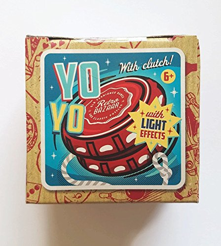 """Retro Bazaar"" Yo-Yo with Clutch and LED Light Effects, Lights Up When You Spin, Replacement Cord Included This Yo-Yo Toy is Red with Red Strobe Lights When You Play from Retro Bazaar"