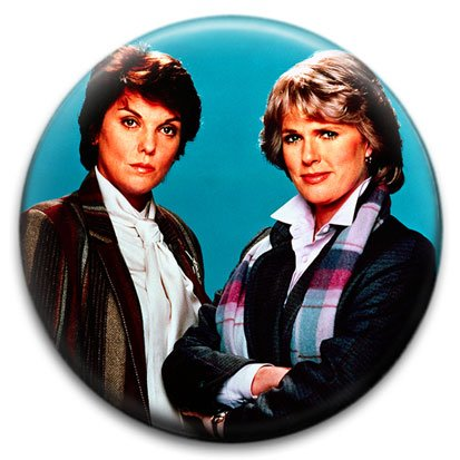 Cagney and Lacey Small Retro Badge from RetroBadge