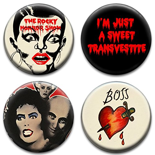 Four Rocky Horror Show Badges from RetroBadge