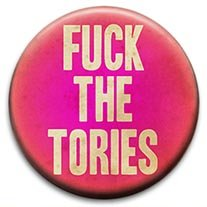 Fuck The Tories Small Retro Badge from RetroBadge