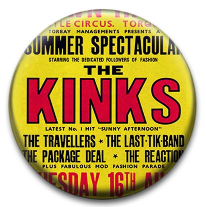 Kinks Music Small Retro Badge from RetroBadge