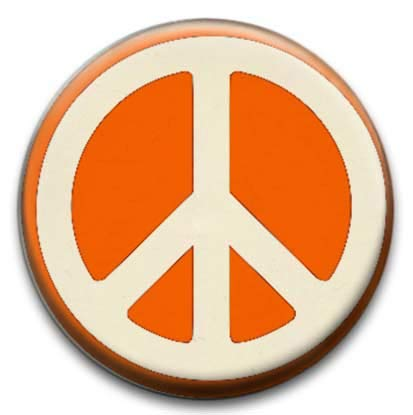 Peace Sign Badge from RetroBadge