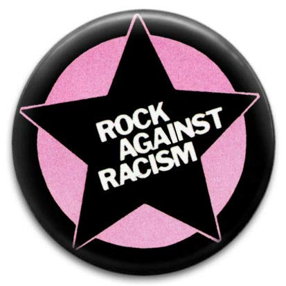 Rock Against Racism Pink Design Small Retro Badge from RetroBadge