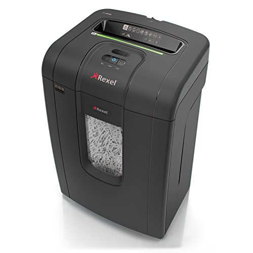 Rexel Mercury RSS2434 2105024 24 Sheet Manual Strip Cut Shredder for Small Office Use (Up to 10 Users), Jam Free Sensor Technology, 34 Litre Bin, Includes Shredder Oil Sheets, Black from Rexel