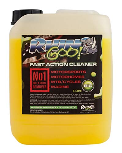 Rhino Goo! Fast Action Cleaner 5L - Bike Cleaner & Chain Degreaser for Mountain Bikes, Road Cycles, Motocross Bikes, Quad bikes & Road Motorcycles from Rhino Goo!
