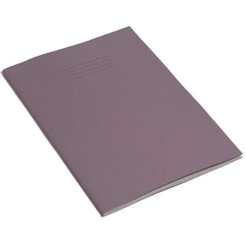 RHINO A4 10mm Squares 80 Page Exercise Book - Purple (Pack of 10) from Rhino