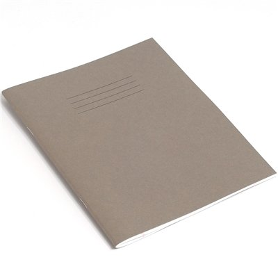 RHINO F8M 9x7 80 Page Exercise Book - Grey (Pack of 10) from Rhino