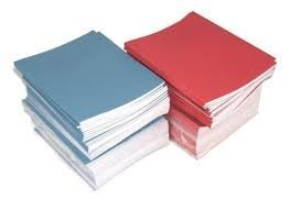 "SCHOOL EXERCISE BOOKS 8mm LINES A5 48 Page 165 x 203mm ""10 Pack"" from Rhino"