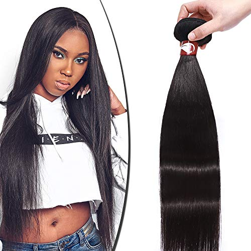 "Virgin Hair Bundles Weave Remy Human Hair Extensions Straight Weft Waving Grade 8A Unprocessed 100g, 24"" / 24 inch from Rich Choices"