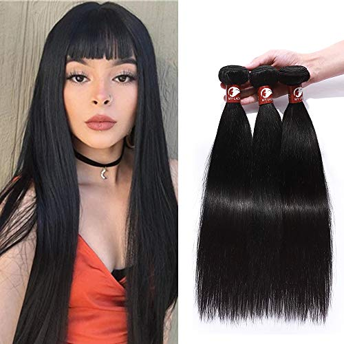 "Virgin Remy Human Hair Extensions Real Hair Weft Weave 3 Bundles Straight Grade 8A Unprocessed 300g, 12"" 12"" 12"" from Rich Choices"