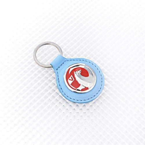 Richbrook Key Ring Sky Blue Leather Vauxhall Logo from Richbrook