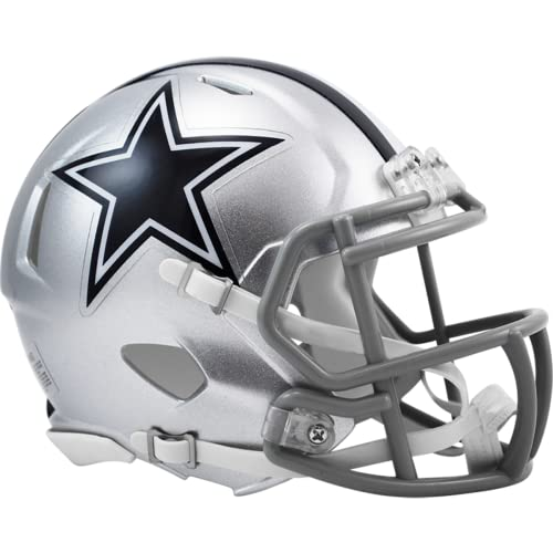 OFFICIAL NFL DALLAS COWBOYS MINI SPEED AMERICAN FOOTBALL HELMET BY RIDDELL from Riddell