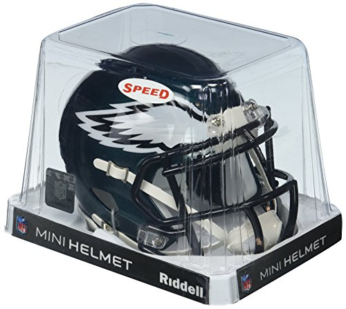 OFFICIAL NFL PHILADELPHIA EAGLES MINI SPEED AMERICAN FOOTBALL HELMET BY RIDDELL from Riddell