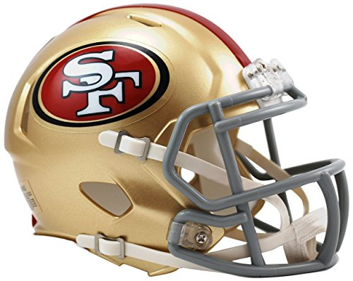 OFFICIAL NFL SAN FRANCISCO 49ERS MINI SPEED AMERICAN FOOTBALL HELMET BY RIDDELL from Riddell