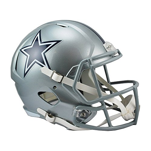 Riddell RIDDRSPDAL NFL Dallas Cowboys Full Size Replica Speed Helmet, Medium, Silver from Riddell
