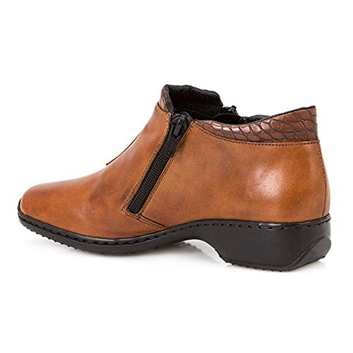 Rieker Drizzle Womens Casual Ankle Boots 6.5/40 Brown from Rieker