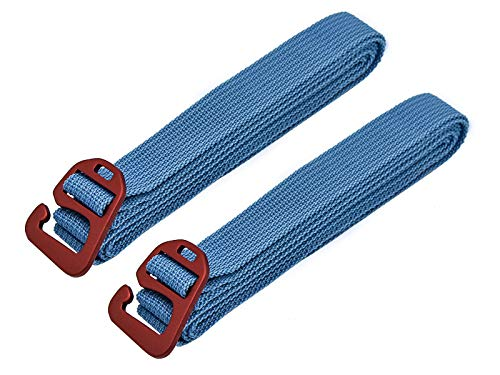 Riemot Tie Down/Tensioning Belts, Hook Release Luggage Straps, Backpack Pack Straps with Aluminum Alloy Buckle 100kg Lashing Capacity 2cm x 2m Pack-2 Blue from Riemot