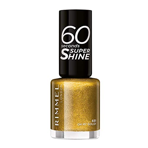 Rimmel 60 Seconds Glitter Nail Polish, Oh My Gold from Rimmel