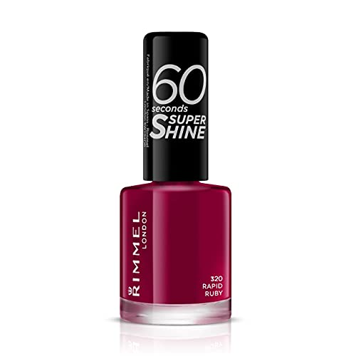Rimmel London 60 Seconds Super Shine Nail Polish, 320 Rapid Ruby from Rimmel