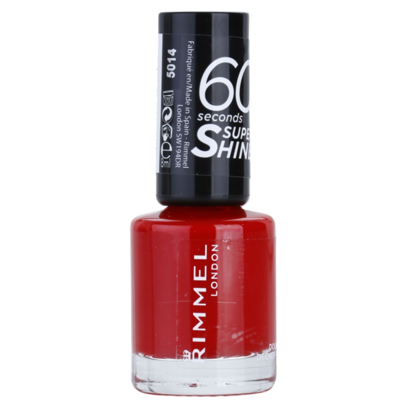 Rimmel 60 Seconds Super Shine Nail Polish Shade 310 Double Decker Red 8 ml from Rimmel