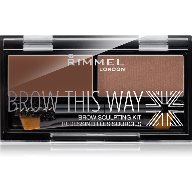 Rimmel Brow This Way Palette For Eyebrows Make - Up Shade 002 Medium Brown 2,4 g from Rimmel