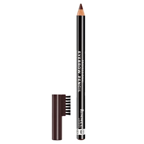 Rimmel London Professional Eyebrow Pencil, Defining Non-Sticky Formula for Perfect Groomed Finish, Dark Brown, 1.4 g from Rimmel