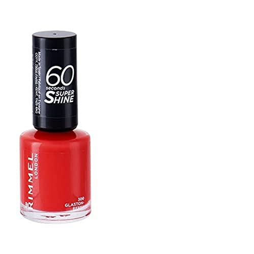Rimmel London 60 Seconds Super Shine by Rita Ora Nail Polish, 300 Glaston-Berry, 8 ml from Rimmel