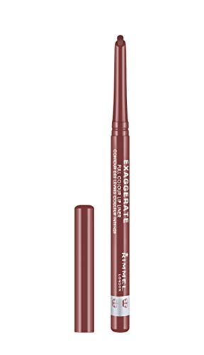 Rimmel London Exaggerate Automatic Lip Liner Addiction (Rosy-Plum), Professional Contouring and Plumper lips, Ideal for All Skin Types, 0.3 g from RIMMEL