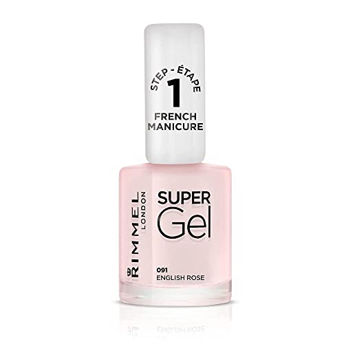 Rimmel London Super Gel French Manicure Nail Polish, 91 English Rose, 12 ml from Rimmel