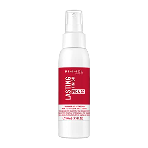 Rimmel London Insta Fix & Go Setting Spray, Smudge Proof Formula with Easy Application and Long-lasting Effect, 100 ml from Rimmel