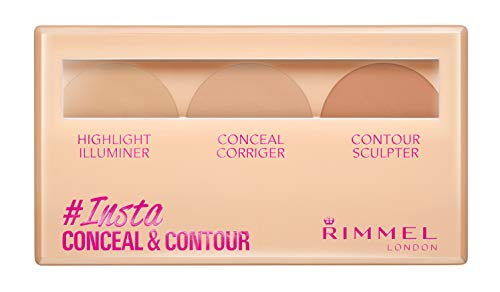 Rimmel London Insta Number 1 Conceal and Contour Palette, 7 g, Light from Rimmel