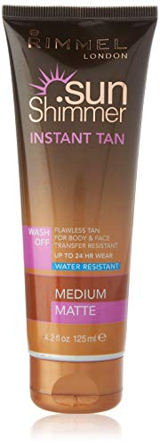 Sunshimmer Water Resistant Instant Tan Wash Off Matte - Medium from Rimmel