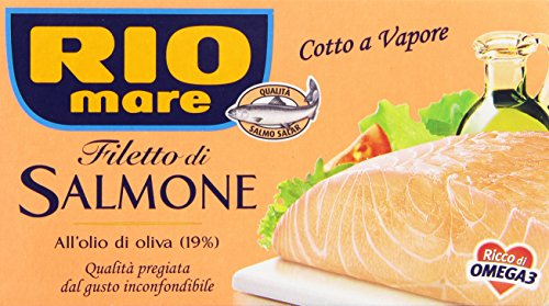 Rio mare - Filetto di Salmone all'Olio di Oliva, Cotto a vapore - 150 g from Rio Mare