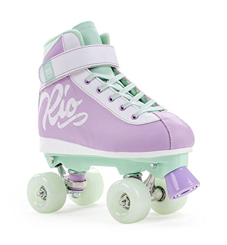 Rio Roller Milkshake Kids/Adult Quad Skate Mint Berry - UK 1 from Rio Roller