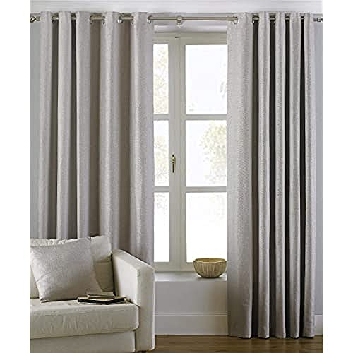 94626f30b82 Riva Paoletti Atlantic Ringtop Eyelet Curtains (Pair) - Natural Beige -  Woven Twill Fabric. found at Amazon