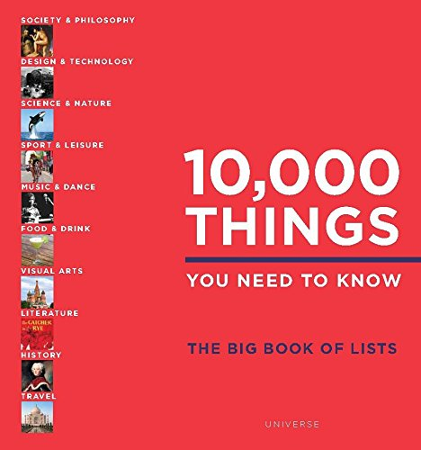 10,000 Things You Need to Know: The Big Book of Lists from Rizzoli International Publications