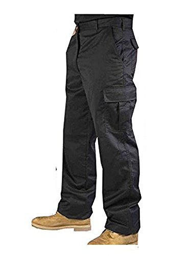 Men's Hard wearing Cargo Combat Builders Warehouse Workwear Trouser, Black, 30 - Short from Road Master